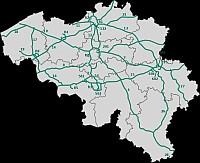 belgium autó térképe